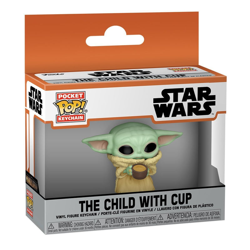 FUNKO POP KEYCHAIN MOVIES STAR WARS THE CHILD WITH CUP