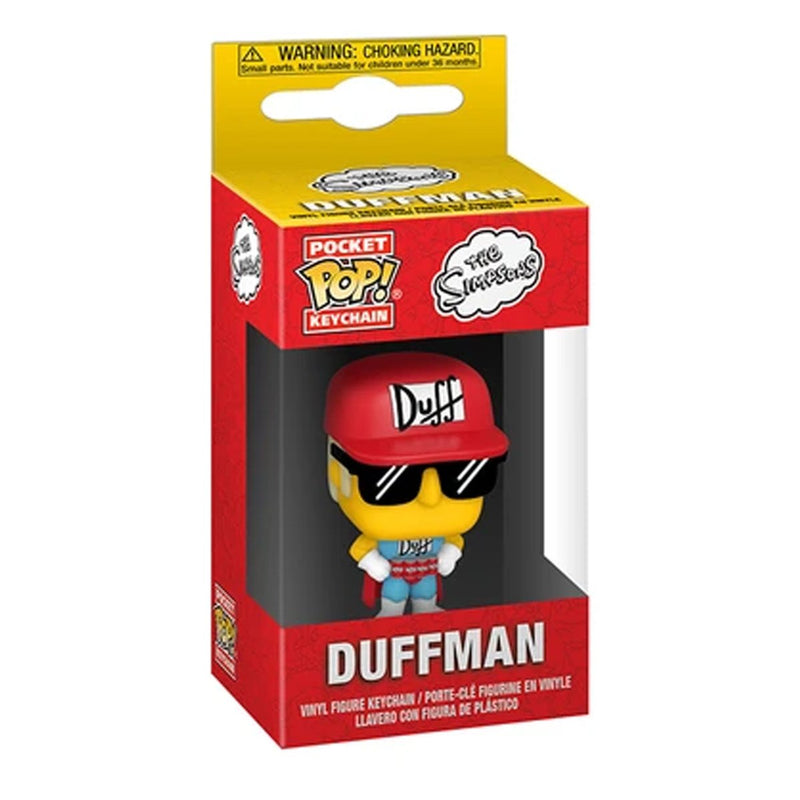 FUNKO POP KEYCHAIN TV THE SIMPSONS DUFFMAN