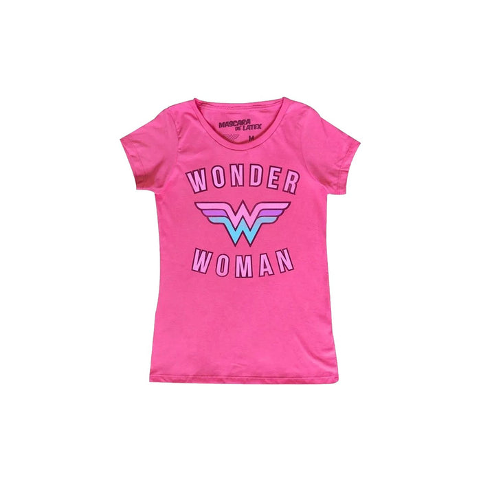 MASCARA DE LATEX DC WONDER WOMAN LOGO PLAYERA DAMA