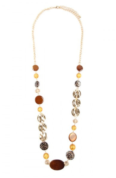 Hammered Gold Chain Necklace