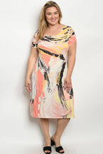 Load image into Gallery viewer, Curvy  Multi Colored Dress