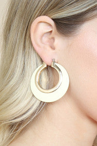 IVORY WOOD HINGE HOOP EARRINGS