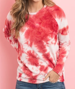 Red Tie-Dye Top
