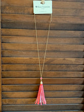 Load image into Gallery viewer, Red Tassel Necklace
