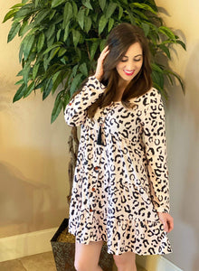 ONLINE EXCLUSIVE! Blush Leopard Dress