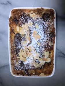 Dessert - Chocolate and Hazelnut Bread and Butter Pudding