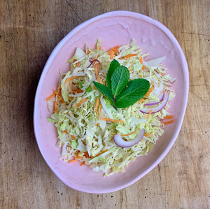 Salad - Traditional Slaw with Lemon Zested Mayo Dressing and Fresh Mint
