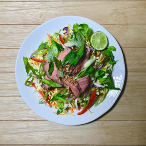 Beef - Thai Beef Salad with Vietnamese Mint, Coriander and Fried Shallots