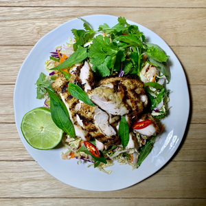 Chicken - Chargrilled Lemongrass Chicken on Vietnamese slaw with Vietnamese dressing