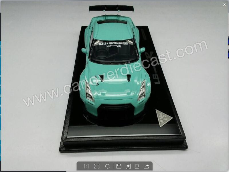 Hottest model Exclusive Color By Carloverdiecat - Nissan GTR 35 LB Works 1/18