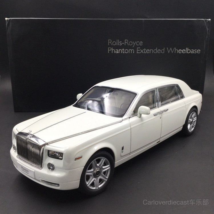 Last piece !!! Rolls Royce Phantom Extended Wheels Based 1:18 by Kyosho (Pure White) 08841EW-C , it is pure white, not cara white , very rare in market