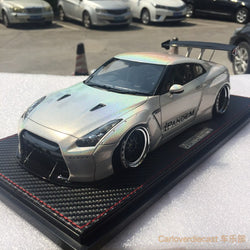Ignition Model Nissan GTR 35 Rocket bunny GT wing resin scale 1:18 White chameleon color