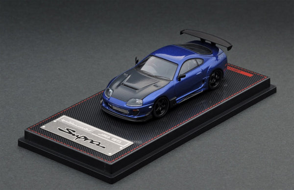ignition Model 1:64 Toyota Supra (JZA80) RZ Blue Metallic (IG1860) diecast car model available on March 2020 pre-order item