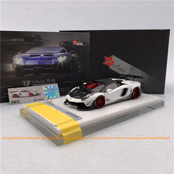 Fuelme 1:43 LB Works Aventador Roadster 50th Limited edition (Ghost White) Resin Car model (FM43007-50LE-JN30)