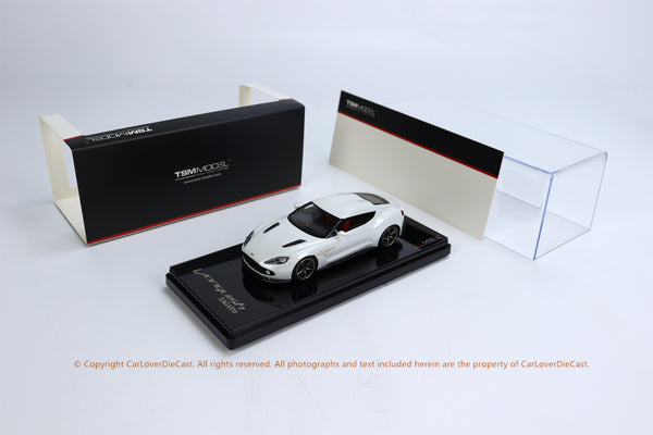 TSM 1:43 Aston Martin Vanquish Zagato  Escaping White  (TSM430162) resin car model available now