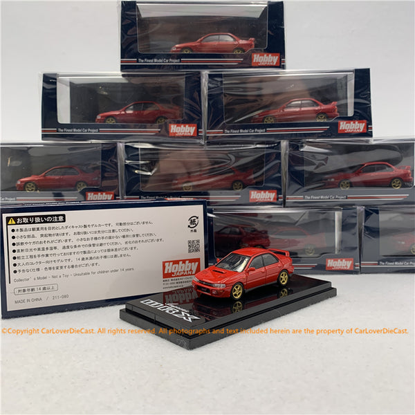 Hobby Japan 1:64 SUBARU IMPREZA WRX (GC8) STi Version Ⅱ Active Red (HJ641013SR) diecast model