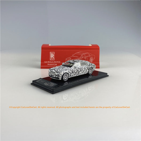 SMALLCARART 1:64  RR Phantom VIII spy photos   (SK164005SP) Diecast Car