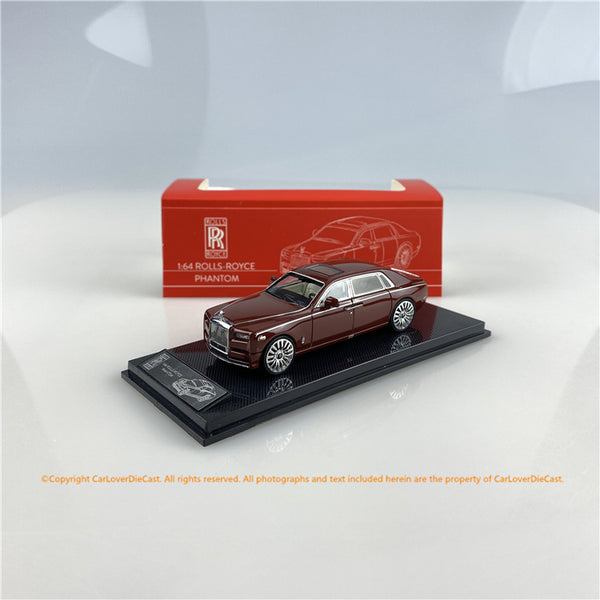 SMALLCARART 1:64  RR Phantom VIII Wine Red   (SK164005WR) Diecast Car available  now
