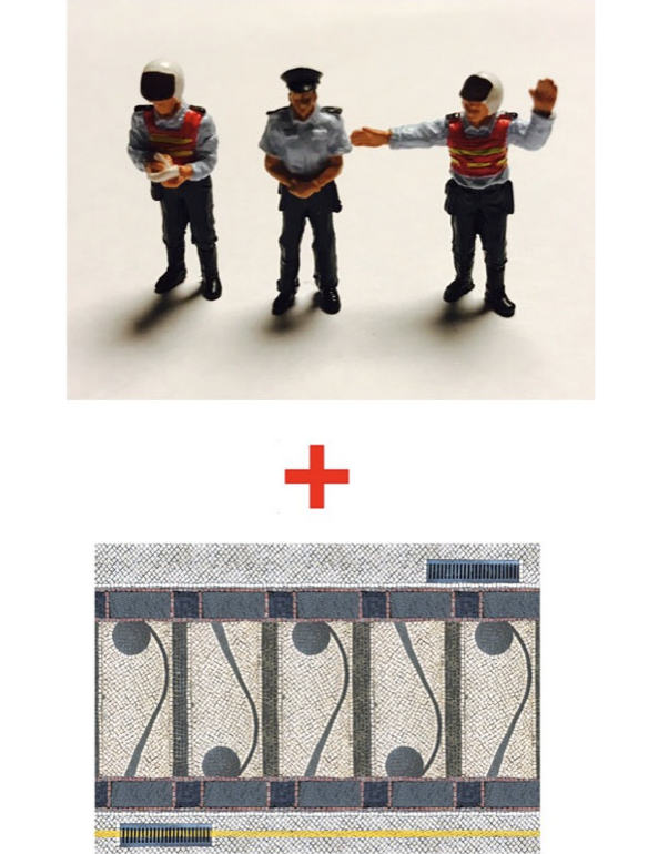 (Zoomer Miniature Models) 1:64 Police Series Inclus 3 figurines et 1 base de carton (21,5x15cm) disponibles dès maintenant (ZMF6403)