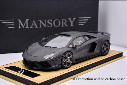 Mansory 1:18 Carbonado Resin in Full carbon decor with carbon base and display limited 30 pcs available on May 2018 Pre-order now