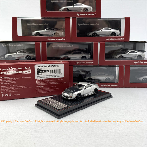 ignition Model 1:64 Toyota Supra (JZA80) RZ Silver (IG1861) diecast car model
