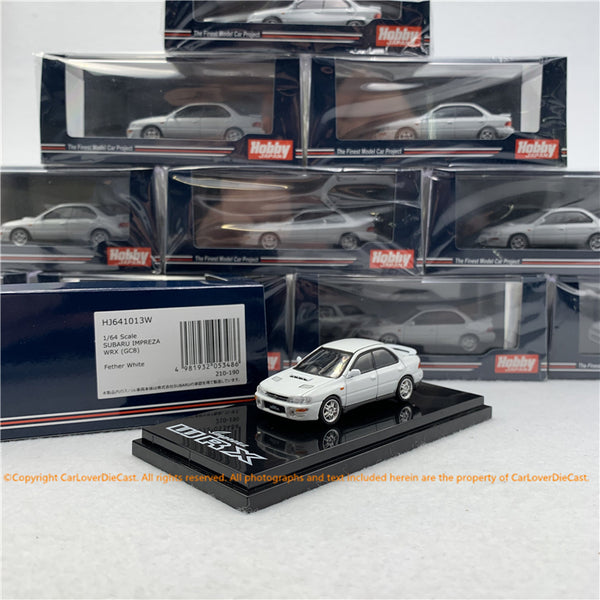 Hobby Japan 1:64 SUBARU IMPREZA WRX (GC8) Feather White (HJ641013W) diecast model