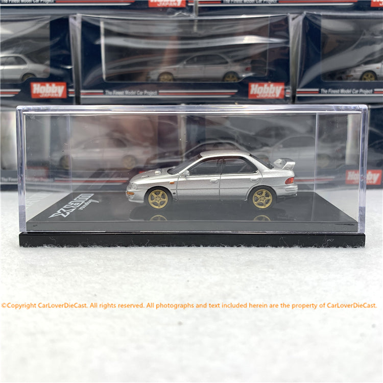 Hobby Japan 1:64 SUBARU IMPREZA WRX (GC8) STi Version Ⅱ Light Silver (HJ641013SS) diecast model