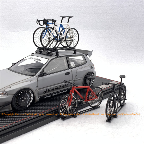 IZ Custom Mountain bike 1:18 scale with Rack for 1:18 scale car model (resin material) in 4 color available   now
