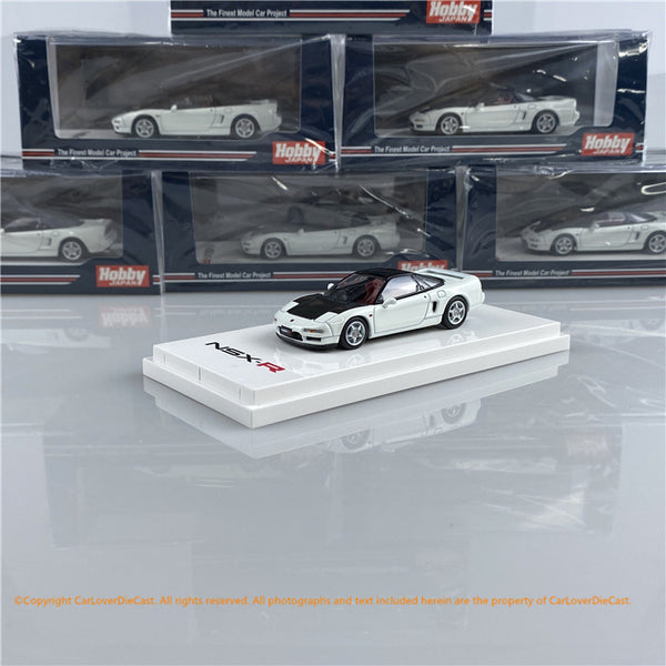 Hobby Japan 1:64 Honda NSX (NA1) Type R 1992  Championship white with Carbon bonnet  (HJ641006RCW) diecast car model avaialble
