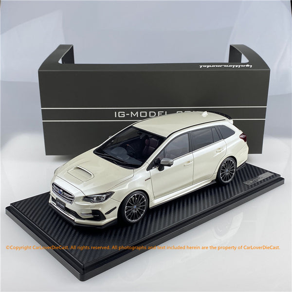 ignition Model 1:18 SUBARU LEVORG (VMG) 2.0STI Sport Crystal   White Pearl ※Normal wheel (IG1661) resin car model