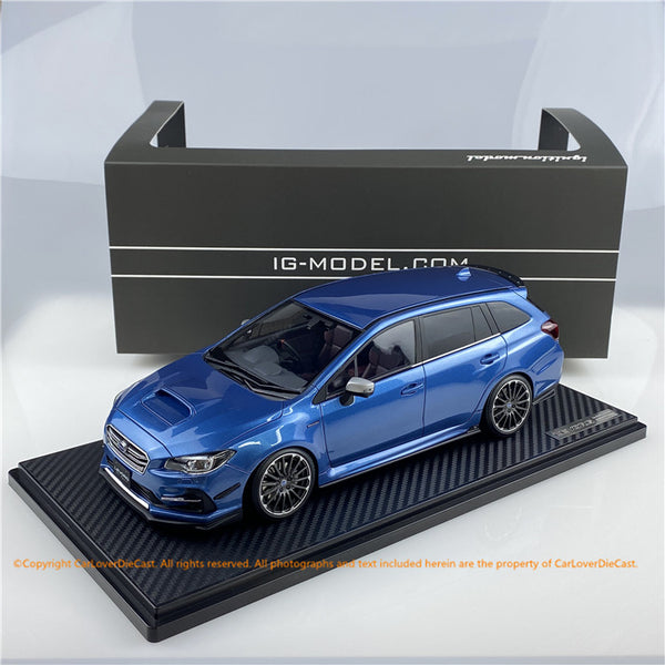 ignition Model 1:18 SUBARU LEVORG (VMG) 2.0STI Sport Storm Blue  Metallic  ※Normal-Wheel (IG1662) resin car model