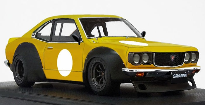 Ignition Model 1/18   Mazda Savanna (S124A) Racing  Yellow  (IG2032) resin car model available on Jan-Feb 2021 Pre-order item