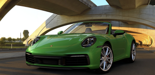 MINICHAMPS PORSCHE 1:8 911(992) CARRERA 4S CABRIOLET Green (800662001)  Resin Model Car Available on the end of April 2021 Pre Order now