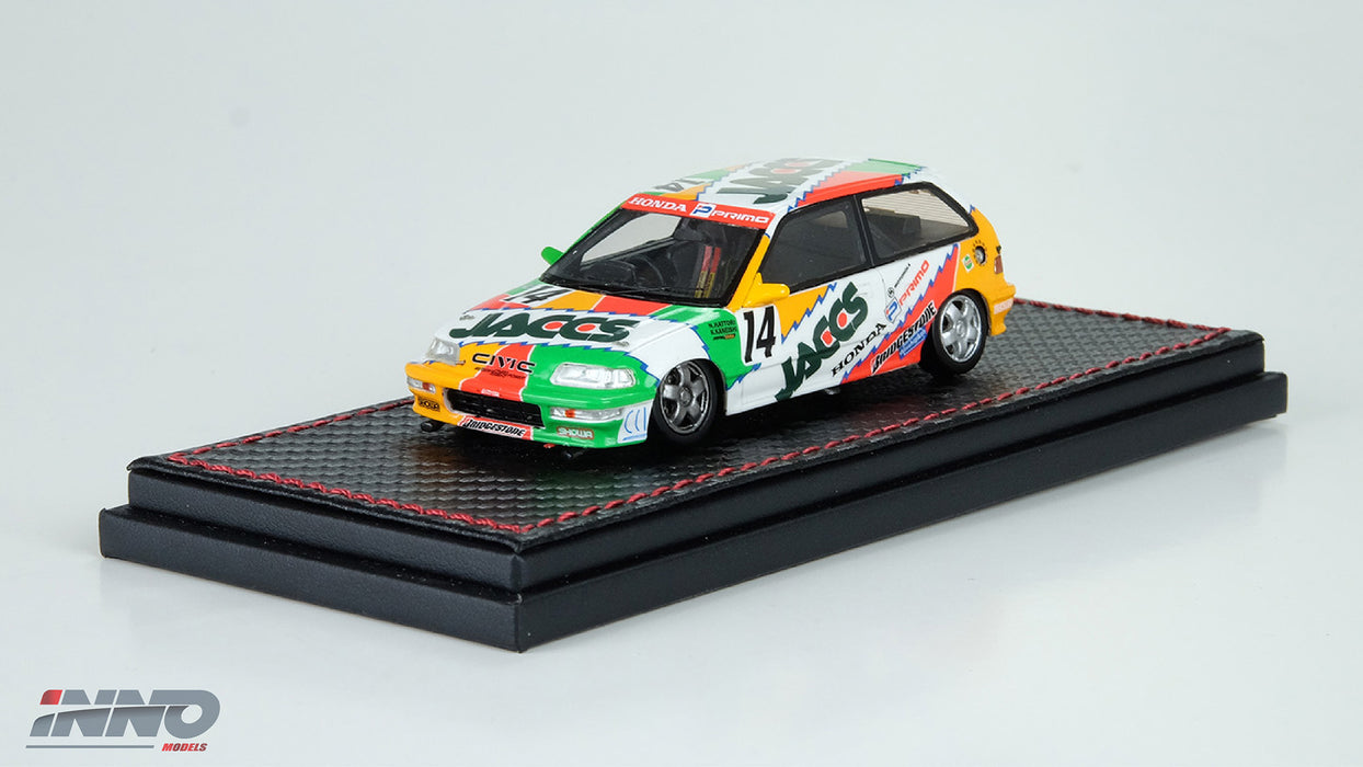 "Inno Model HONDA Civic EF9 #14 ""JACCS"" JTC 1992 Resin scale 1:43 available on March 2018 pre-order now IN43001-JA"