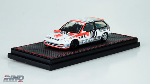 "Inno Model HONDA Civic EF3 #100 ""IDEMITSU"" Suzuka Inter TEC 1990 Resin scale 1:43 available on March 2018 pre-order now IN43001-3ID"