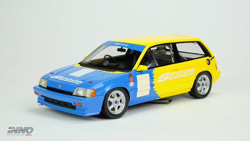 Inno Model HONDA Civic SI E-AT Spoon JTCC 1985  Resin scale 1:18 available on March 2018 pre-order now IN18007RA