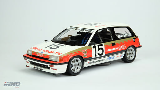 "Inno Model HONDA Civic SI E-AT Gr.A "" Mugen"" JTCC 1986  Resin scale 1:18 available on March pre-order now IN18006RA"