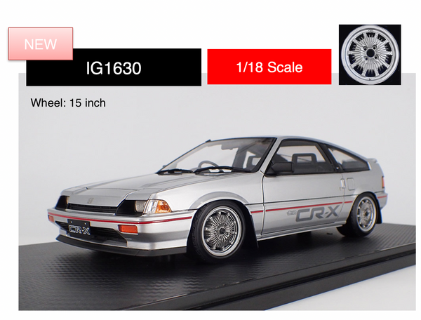 Ignition model 1:18 Honda BALLADE SPORTS CR-X Si (E-AS) Silver (IG1630 ) limited 100pcs available on April-May 2020 pre-order item