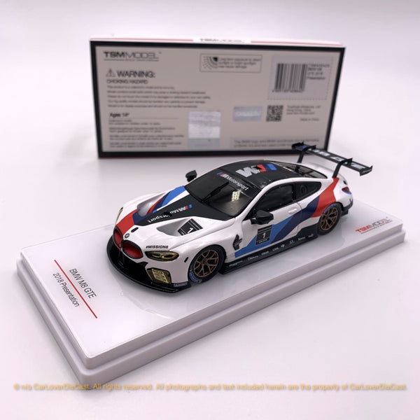 TSM 1:43 BMW M8 GTE 2018 Presentation (TSM430429) resin model available now
