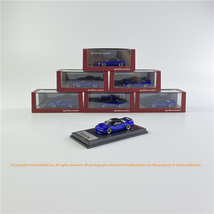 Ignition Model 1/64 Honda NSX (NA1)  Metallic Blue  (IG1943) limited 200 units Diecast car model available now