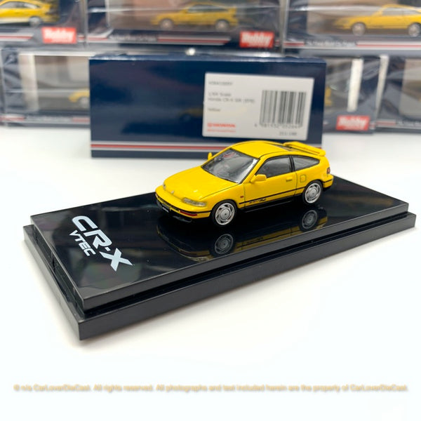Hobby Japan 1:64 Honda CRX-EF8 Customized Carbon Bonnet Ver. Modèle de voiture de diécast noir (HJ641005BK) disponible à la fin de l'article de pré-commande d'octobre 2019
