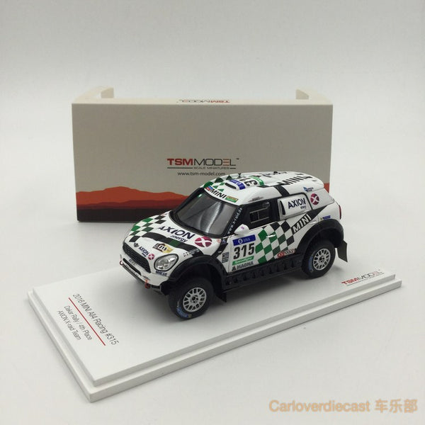 TSM - Mini All4 Racing #315 2016 Dakar Rally AXION X-road Team 4th place resin scale 1:43 (TSM430237) available now