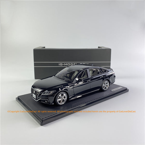 ignition Model 1:18 Toyota Crown (220) 3.5L RS Advance Precious Black Pearl *Normal-Wheel (IG1682) resin car model available  now