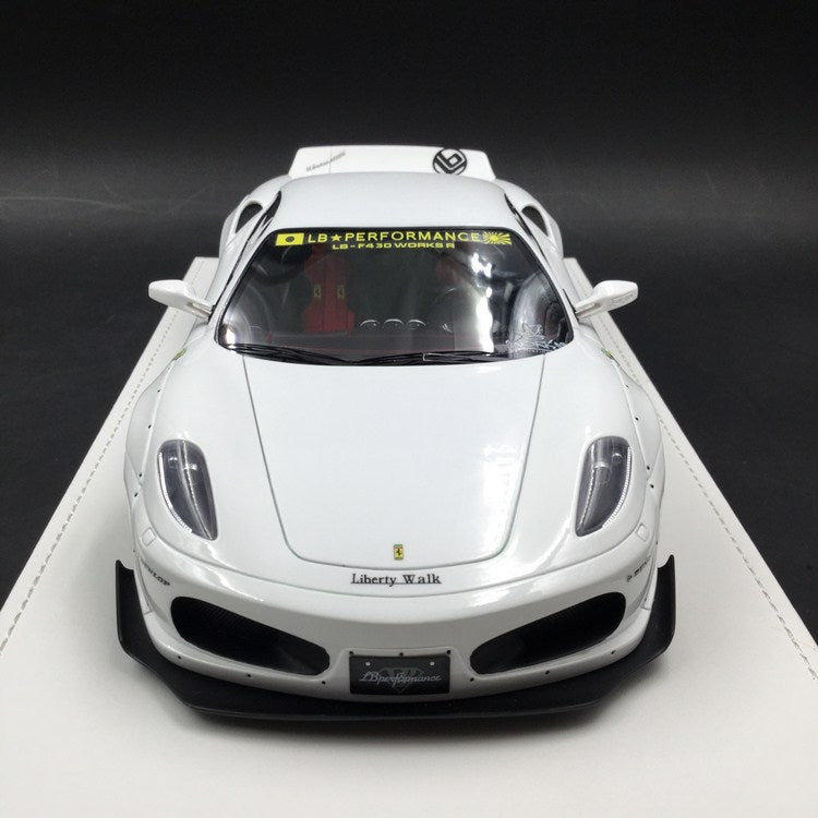 JUC 1:18 LB works F430 (resin Model)  white with display case and White Leather like base available  now  (J38-03) Limited 10 units