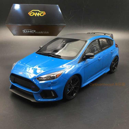 OttO Mobile 1:18 Ford Focus RS 2018 Limited Edition (Blue with black top)  Resin Model (OT788) Limited 300 pcs exclusive by CLDC  available now