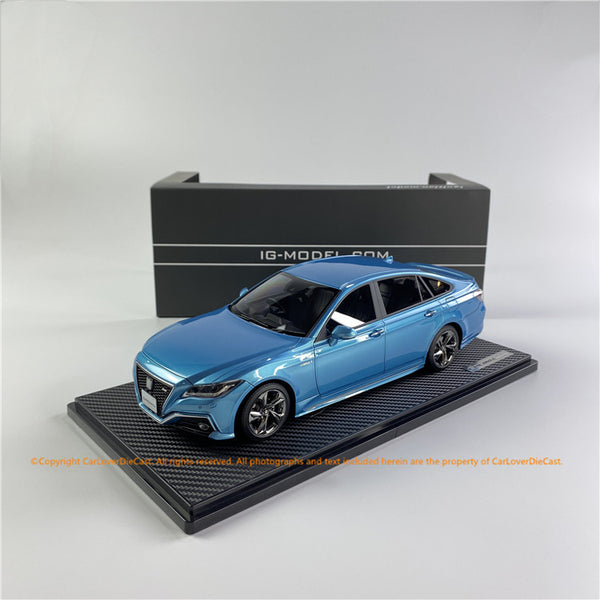 ignition Model 1:18 Toyota Crown (220) 3.5L RS Advance Skyline blue (IG1683) resin car model available now