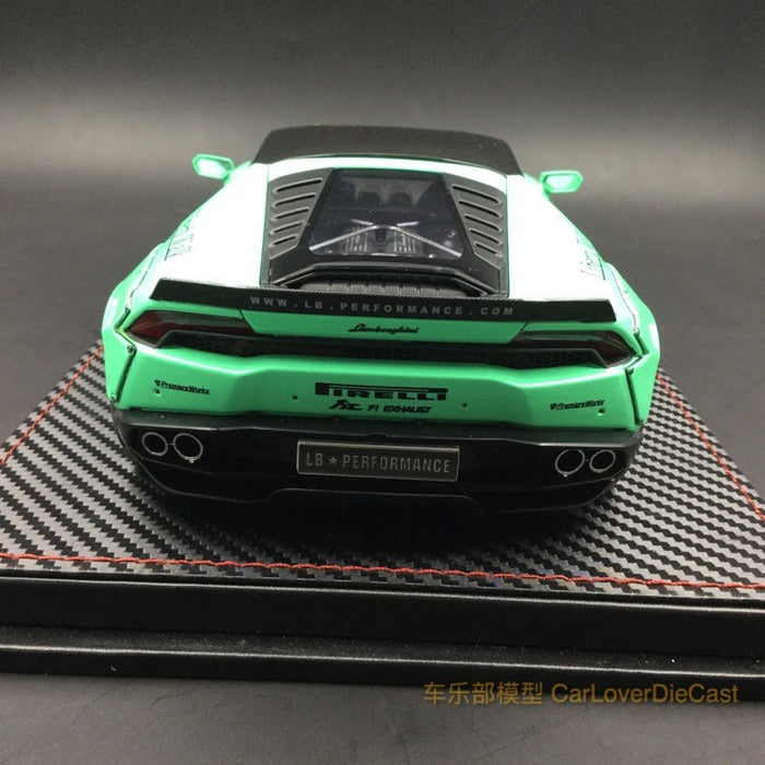 (ACM) Huracan LB Works Diecast Scale 1:18 (Pearl Green) custom made by order lead time 2 weeks