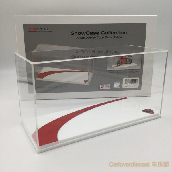 TSM - 1:12 display case for 1:12 TSM Ducati motorcycle (Black / White based option)