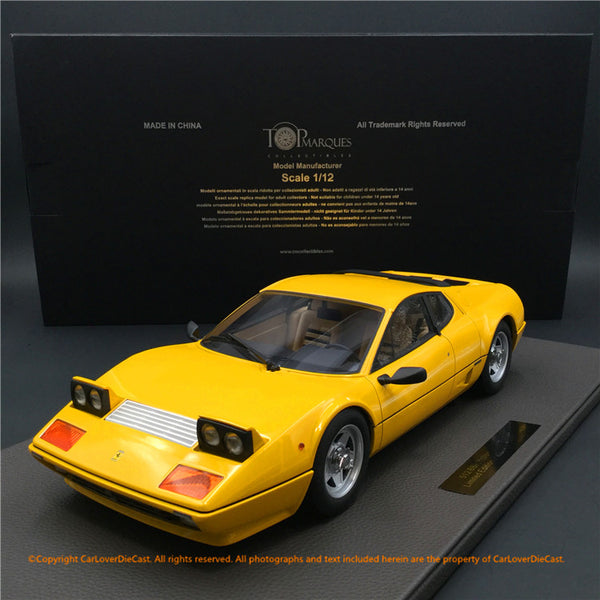 Top Marques -  512BBi (yellow)  1:12 resin model (TM12-09B) available now