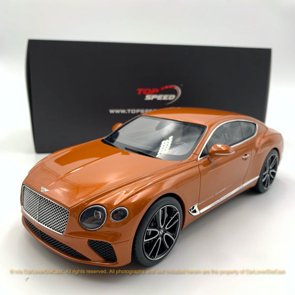 Topspeed 1:18 Bentley New Continental GT Orange Flame (TS0222) available now